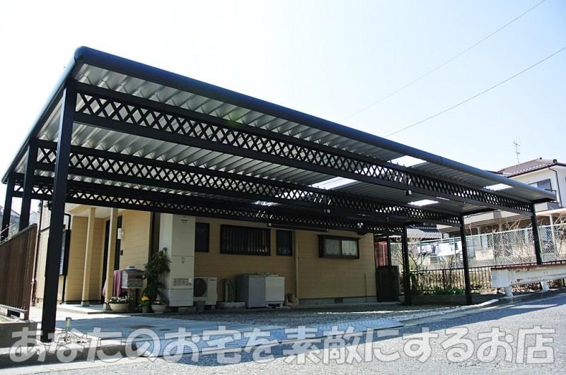 岐阜 セッパンカーポート専門店『あなたのお宅を素敵にするお店』 サンアイ 5台用折板カーポート