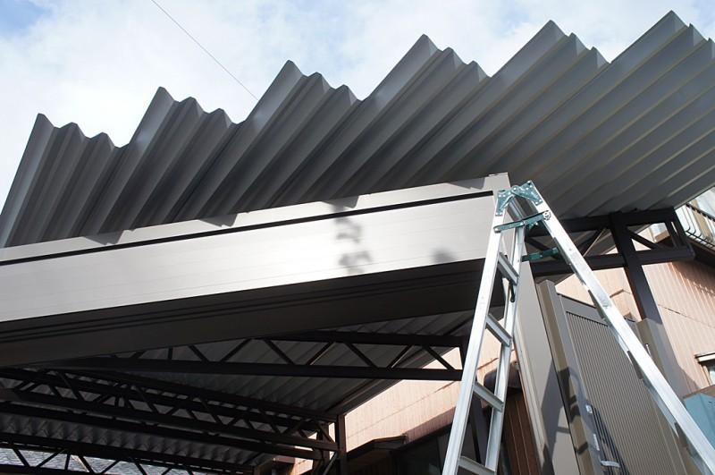 岐阜 セッパンカーポート専門店『あなたのお宅を素敵にするお店』 エレント 2台用折板カーポート 台形