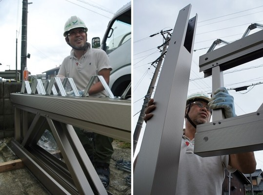 洞山光良 折板カーポート施工