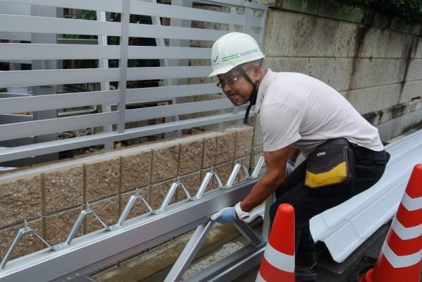 セッパンカーポート トラス梁の施工
