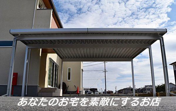 L型セッパンカーポート 完成 岐阜県羽島市