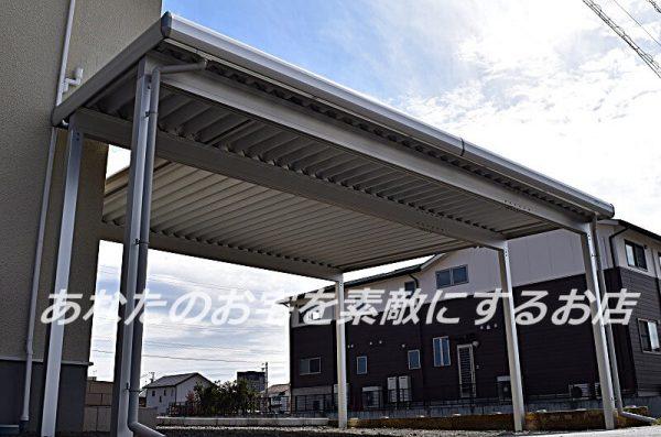 羽島市 折板カーポート完成