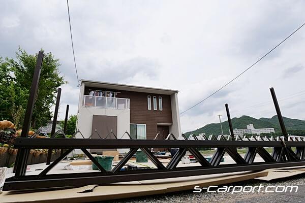 セッパンカーポート角地 施工