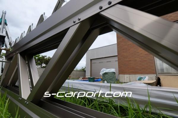 セッパンカーポート トラス梁2列 幅6m