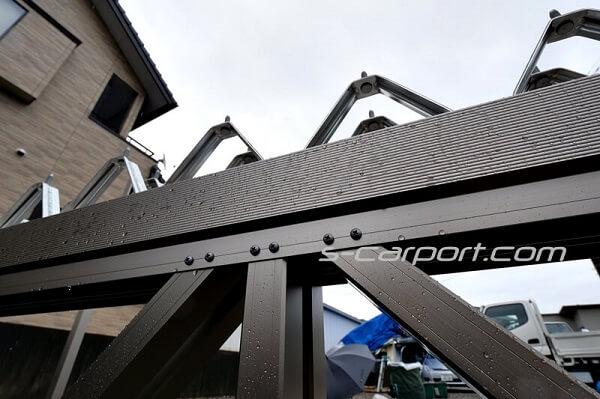 セッパンカーポートのトラス梁 3台用 幅7.8m
